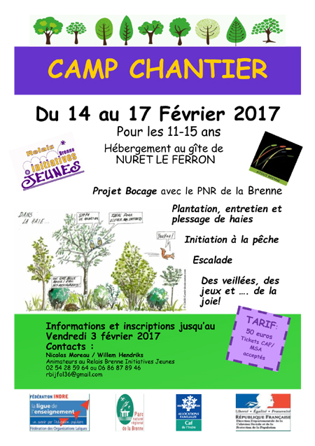 2017 camp chantier bocage